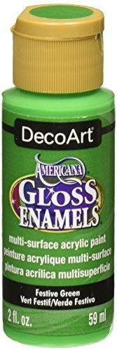 Decoart Americana Gloss Enamel Paint, 2-Ounce, Festive Green