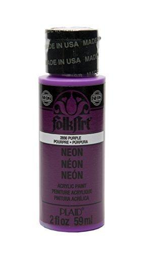 Folkart Neon Acrylic Paint In Assorted Colors (2 Ounce), 2856 Neon Purple