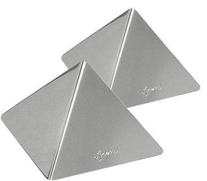 Ateco 24936 Medium Stainless Steel Pyramid Mold Set Of 2