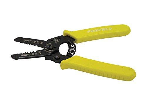 "Se 8863Ws Copper Wire Stripper With Teeth Strips From 10 To 22 Gauge, 6-1/2"", Yellow"