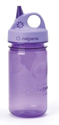 Nalgene Tritan Grip-N-Gulp Bpa-Free Water Bottle,Purple,12 Ounces