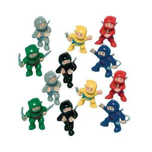 "Amscan Fun-Filled Birthday Party Mini Ninja Action Figure (Pack Of 12) Multicolor 1 7/8"" X 1"" X 5/8"""