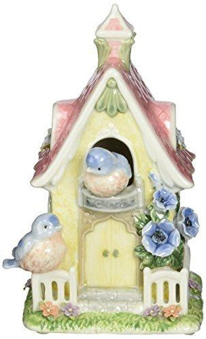 Cosmos 80084 Fine Porcelain House Of Splendor Birdhouse Musical Figurine - 7-1/4-Inch