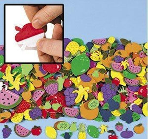 Fun Express Fruit Shapes Self Stick Foam Shapes 500/Pk.