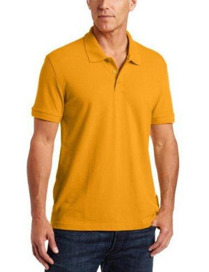 Classroom Men'S Adult Unisex Short Sleeve Pique Polo, Orange, 3X-Large