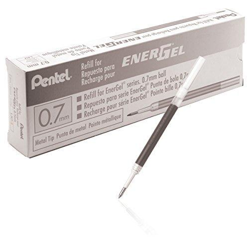 Pentel Refill Ink For Bl57/Bl77 Energel Liquid GelPen Box Of 12 0.7Mm Metal Tip Black Ink (Lr7-A-12)