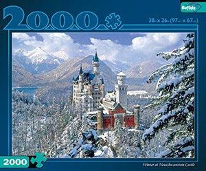 Buffalo Games Winter At Neuschwanstein Castle 2000Pc Jigsaw Puzzle