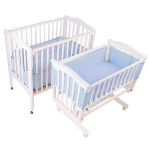 Breathablebaby Breathable Mesh Liner For Portable And Cradle Cribs - Blue