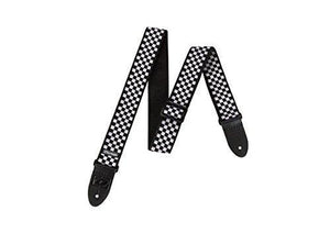 Jim Dunlop D3831Bk Black And White Checkered Guitar Strap