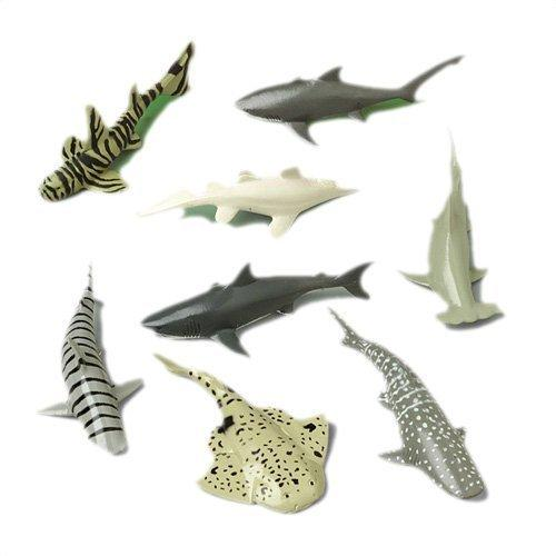 U.S. Toy Shark Toy Animals (12 Count)