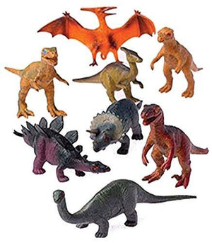 U.S. Toy 12 - Assorted Medium Sized Plastic Toy Dinosaurs Play Set Figures.