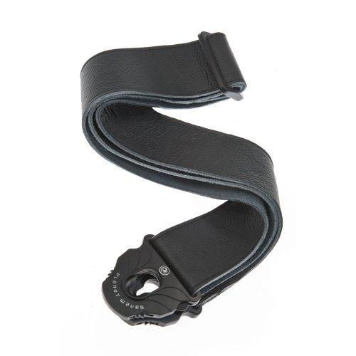 D'Addario Planet Waves Planet Lock Leather Guitar Strap, Black