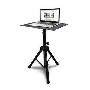 Pyle Laptop Projector Stand Tripod Height Adjustable 28'' To 46'' For Dj Presentations Computer