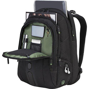 Targus Spruce Ecosmart Backpack Case Designed For 17-Inch Laptops - Black/Green Accents
