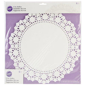 "Wilton Grease Proof Doilies - 12"" - White - 6 Count"