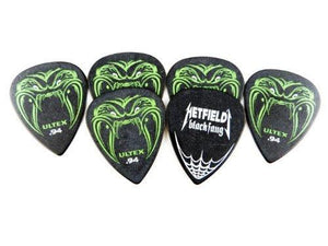 Jim Dunlop Ph112P.94 Hetfield Black Fang, Black, .94Mm, 6/Player'S Pack