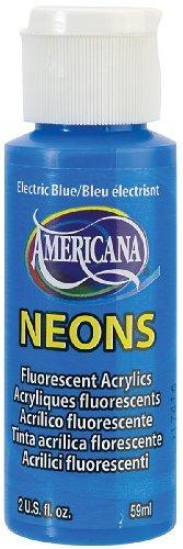 Decoart Americana Neon S Paint - 2 - Ounce - Electric Blue