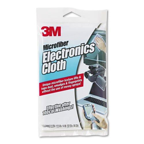 3M Products Microfiber Electronics Cleaning Cloth 12.5 X 14.1 White