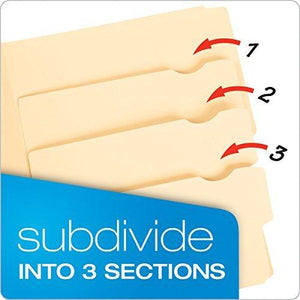 Pendaflex Divide- It -Up Multi-Section File Folders - Manila - Letter Size - 24 Per Package (10770)