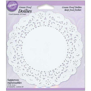 "Wilton Grease Proof Doilies - 6"" - White"
