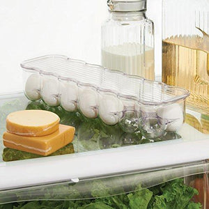 Interdesign Covered Egg Holder Clear - 14 Eggs
