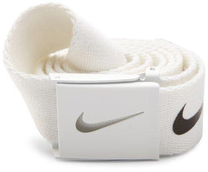 Nike Golf Mens Tech Essential Belt, White, One Size