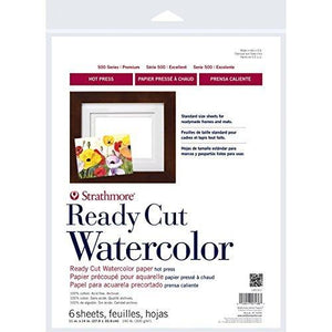 "Strathmore Watercolor Paper Pack 11""X14""-6 Sheets"