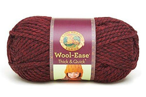 Lion Brand Yarn 640-143 Wool-Ease Thick And Quick Yarn, Claret