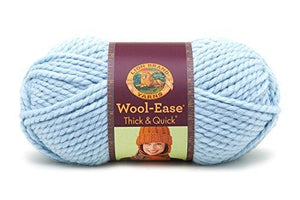Lion Brand Yarn 640-105L Wool-Ease Thick And Quick Yarn, Glacier