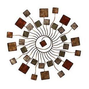 Deco 79 Bombayjewel Modern Blossom Sun Abstract Metal Wall Art Home Dcor