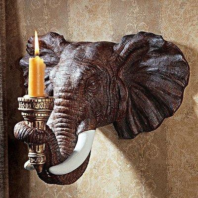 Design Toscano Elephant Wall Sconce (Set Of 2)