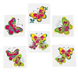 Fun Express Kids Temporary Butterfly Tattoos - 72