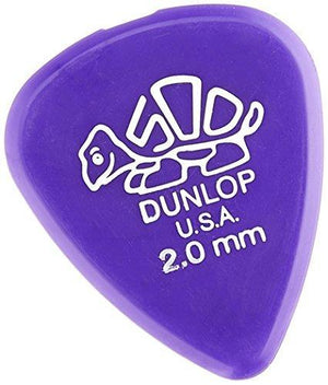 Jim Dunlop 41R2.0 Delrin, Purple, 2.0Mm, 72/Bag