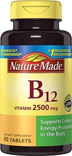 Nature Made Vitamin B-12 Tablets, 2500 Mcg, 60 Count