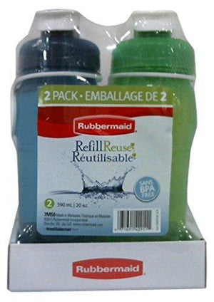 Rubbermaid Refill Reuse 2 Pack 20Oz - Green/Blue