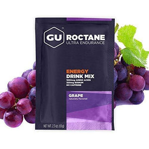 Gu Energy Labs Roctane Ultra Endurance Energy Drink Mix, Grape, 10-Count
