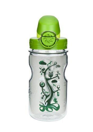 Nalgene Kids Otf With Green Cap Water Bottle - Clear Woodland
