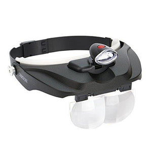 Carson Optical Pro Series Magnivisor Deluxe Head-Worn Led Lighted Magnifier With 4 Lenses(Cp-60)