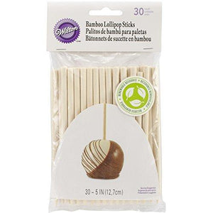 Wilton 1912-1931 30-Pack Bamboo Lollipop Sticks 5-Inch