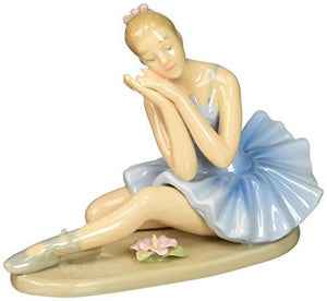 Cosmos 10625 Fine Porcelain Ballerina Dreaming Figurine - 4-5/8-Inch