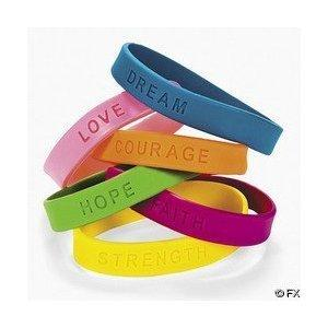 Oasis Supply 24 Inspirational Sayings Bracelets (Assorted Colors)