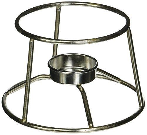 "American Metalcraft Cifdr Cast Iron Fondue Pot And Stand, 4.95"" Length X 5.05"" Width, Silver"