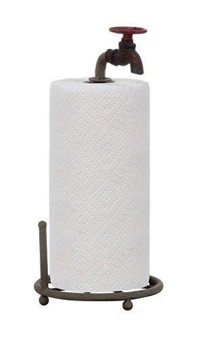 Creative Co-Op Da0075 Metal Faucet Paper Towel Holder, 15-Inch