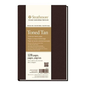 Strathmore Str-469-5 128 Sheet No 80 Toned Tan Art Journal, 5.5 By 8.5""