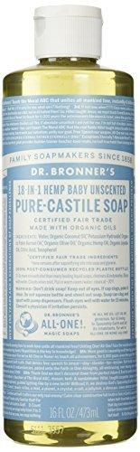Dr. Bronner'S Fair Trade & Organic Castile Liquid Soap - (Unscented, 16 Oz)
