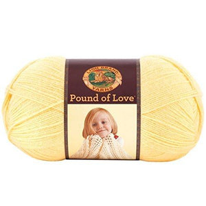 Lion Brand Yarn 550-158 Pound Of Love Yarn, Honey Bee