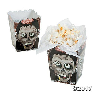 Fun Express Halloween Zombie Head Mini Popcorn Boxes - 24 Count