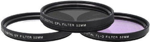 Xit Xt52Flk 52 3-Piece Camera Lens Filter Sets
