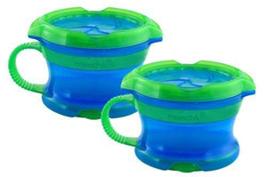Munchkin Click Lockdeluxe Snack Catcher - Blue/Green - 2-Count