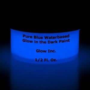 Pure Blue Glow In The Dark Paint 1/2 Fluid Ounce